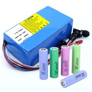 Batterie au lithium 18650 48V 12AH 48V 500W batterie de vélo électrique avec BMS