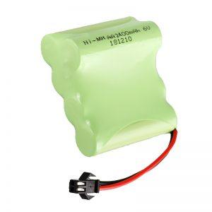 Batterie rechargeable NiMH AA2400 6V jouets électriques rechargeables outils batterie pack