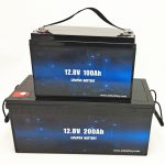 Batterie solaire LiFePO4 à cycle profond 12V 100Ah / 200Ah batterie au lithium-ion pour chariot de golf