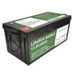 Vente chaude 2.56KWh lifepo4 batterie 12v 200Ah 6000 cycles rv batterie