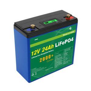 Batterie profonde solaire de l'onduleur 12v 24ah de paquet de batterie du cycle 24v 48v 24ah Lifepo4