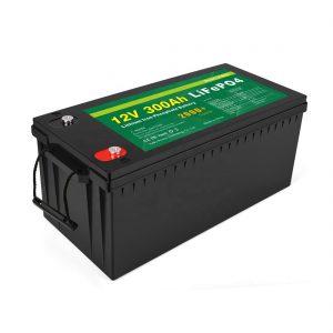 TOUT EN UN Batterie au lithium-ion Batterie de stockage 12v 300Ah LiFePo4 à cycle profond