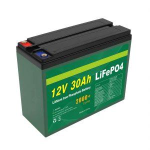 Batterie OEM Rechargeable 12V 30Ah 4S5P Lithium 2000+ Fabricant de cellules Lifepo4 à cycle profond