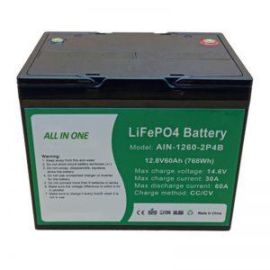 Batterie au lithium cylindrique tout-en-un de 2000 cycles 12v60Ah pour le stockage d'énergie