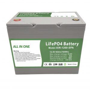 Vente d'usine 12.8V60Ah batterie domestique en plastique 2000 cycles batterie lifepo4 12v pour l'énergie domestique