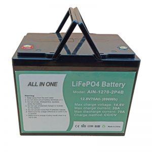 Batterie rechargeable 896Wh lifepo4 12V 70Ah pour vechile électrique