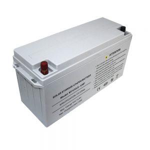 Batterie de stockage d'énergie LiFePO4 Batterie 12V 80Ah Batteries solaires pour alimentations