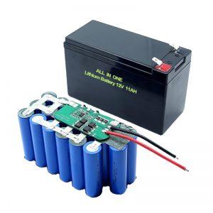 Tout en un 18650 3S5P 12Volt batterie au lithium 11Ah batterie au lithium rechargeable
