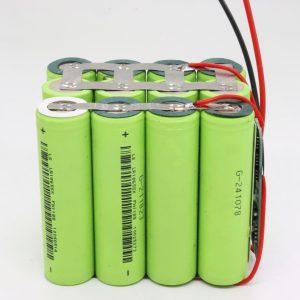 Vente en gros personnalisé 18650 lithium 4s3p carte PCB étanche batterie à cycle profond 12V 10AH pour outil électrique