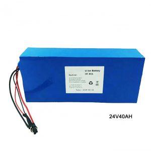 Vélo électrique vélo 24 volts batterie au Lithium 24V 40Ah NMC Li Ion batterie batterie Rechargeable ion lithium