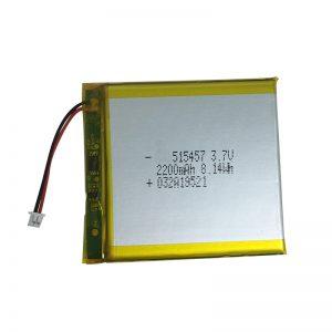 Batteries au lithium polymère 3.7V 2200mAh pour appareils domestiques intelligents