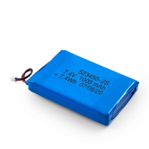Batterie rechargeable LiPO 523450 3.7V 1000mAH / 7.4V 1000mAH / 3.7V 2000mAH