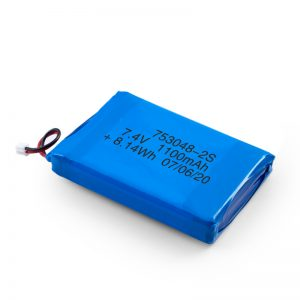 Batterie rechargeable LiPO 753048 3.7V 1100mAh / 7.4V 1100mAH / 3.7V 2200mAH