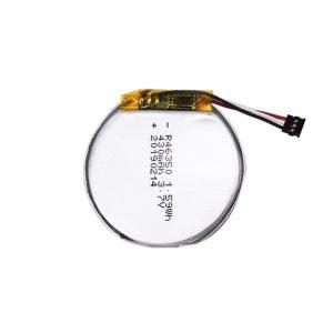 Batterie personnalisée LiPO 46350 3.7V 350mAH batterie de montre intelligente 46350 petite batterie au lithium polymère ronde plate pour jouets